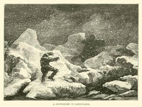 A Snowstorm in Greenland Lámina giclée