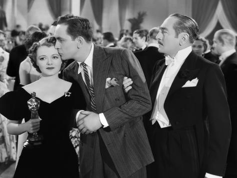 A Star Is Born, Janet Gaynor, Fredric March, Adolphe Menjou, 1937 Stretched Canvas Print