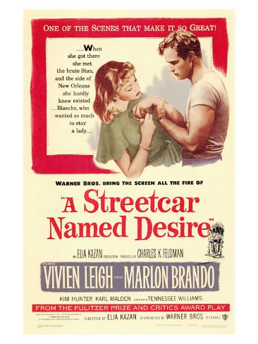 A Streetcar Named Desire, 1951 Art Print