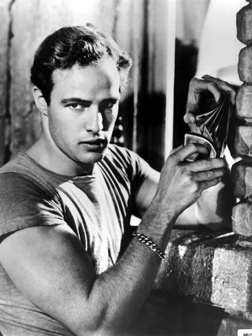 A Streetcar Named Desire, Marlon Brando, 1951, Playing Cards Photo