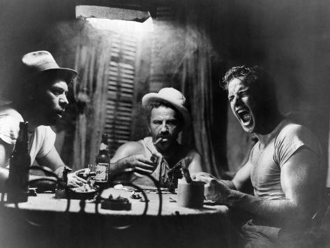 A Streetcar Named Desire, Nick Dennis, Rudy Bond, Marlon Brando, 1951 Foto