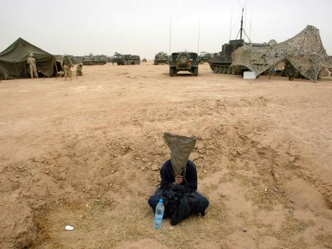 A Suspected Muqtada Al-Sadr Follower at an Us Army Base Outside Najaf Photographic Print