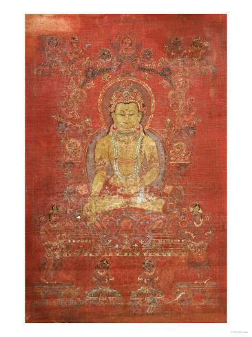 A Tibetan Thang.Ka Depicting Ratnashambhava, Early 14th Century Stampa giclée