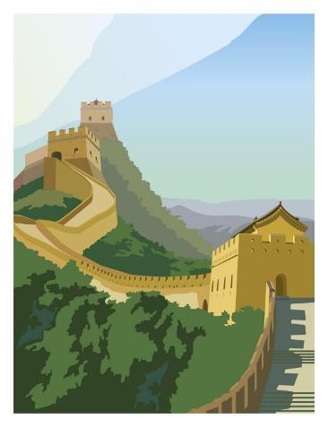 A View of the Great Wall of China Art Print
