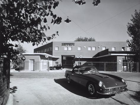 Entrance and Facade of the Ferrari Factory in Maranello Photographic Print