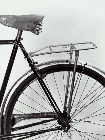 Mudguard, Seat and Rear Tire of a Bicycle Photographic Print