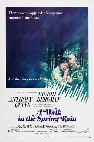 A Walk in the Spring Rain Art Print