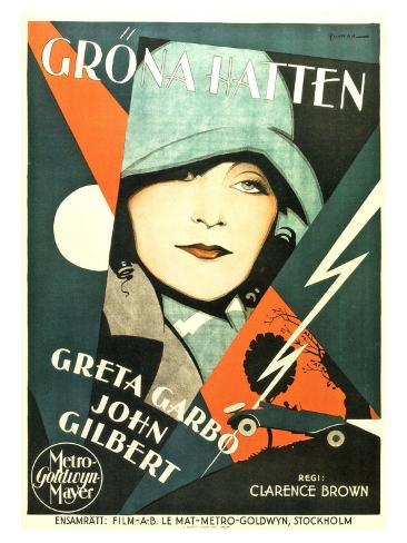 A Woman of Affairs, Swedish Movie Poster, 1928 Art Print