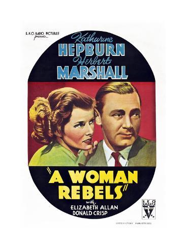 A Woman Rebels Art Print