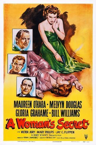 A Woman's Secret, 1949 Art Print