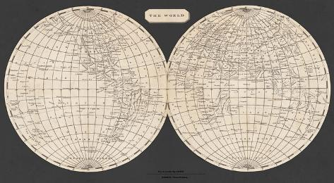 Map of the World, 1812 Art Print