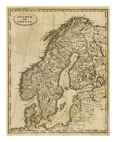 Sweden, Norway, c.1812 Art Print