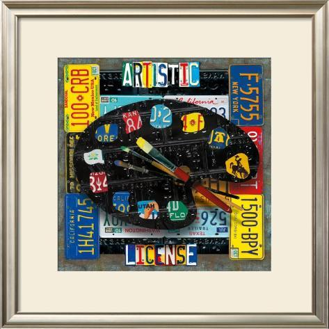 Artistic License Framed Art Print