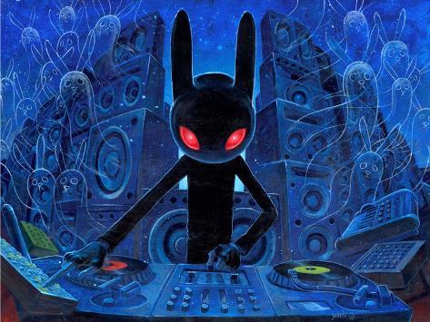 DJ BlackRabbit Premium Giclee Print