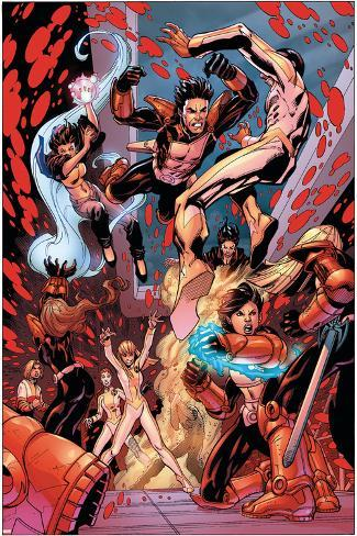New X-Men No.19 Group: Hellion, Surge, Hellions and New Mutants Poster