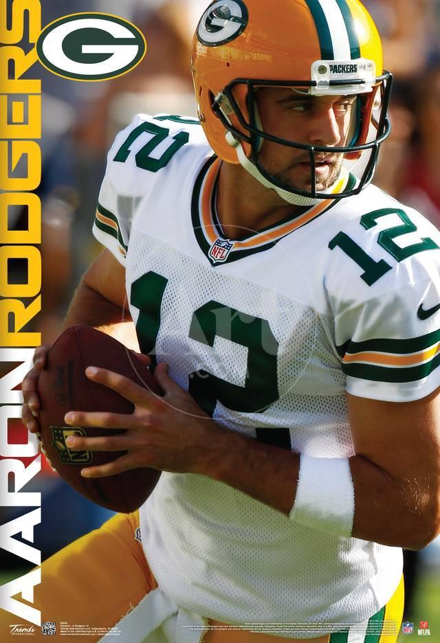 Aaron Rodgers Green Bay Packers Nfl Sports Poster Pósters en ...