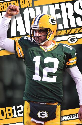 Aaron Rodgers Green Bay Packers Poster