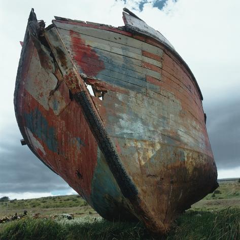Abandoned Boat Hull Photographic Print