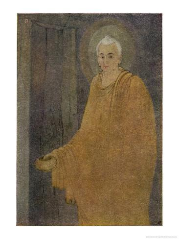 Buddha (Siddhartha) as a Mendicant Priest Giclee Print