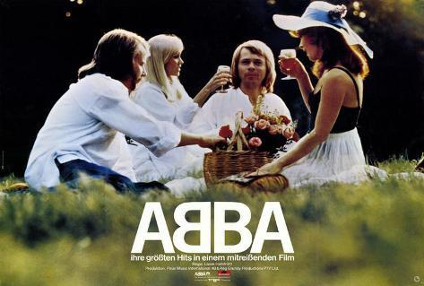 Abba: The Movie - German Style Poster
