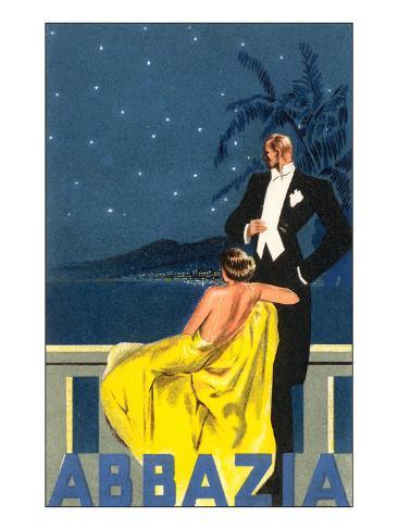 Abbazia, Sophisticated Couple Art Print
