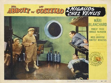Abbott and Costello Go to Mars, 1953 Premium Giclee Print