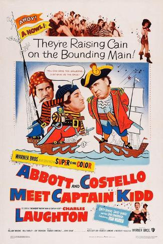 Abbott and Costello Meet Captain Kidd Art Print