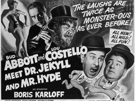 Abbott and Costello Meet Dr. Jekyll and Mr. Hyde, 1953 Art Print