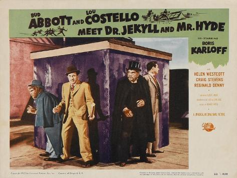 Abbott and Costello Meet Dr. Jekyll and Mr. Hyde, 1953 Stampa artistica