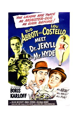 Abbott and Costello Meet Dr. Jekyll and Mr. Hyde - Movie Poster Reproduction Premium Giclee Print