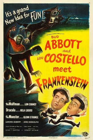Abbott and Costello Meet Frankenstein, Lou Costello, Bud Abbott, 1948 Art Print