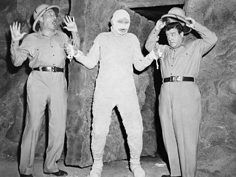 Abbott and Costello Meet the Mummy, 1955 Photographic Print