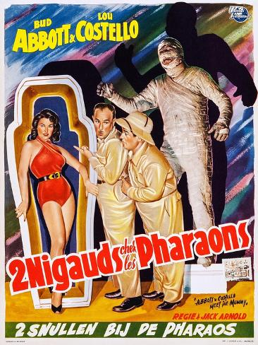 Abbott and Costello Meet the Mummy (aka 2 Nigauds Chet Les Pharaons) Art Print