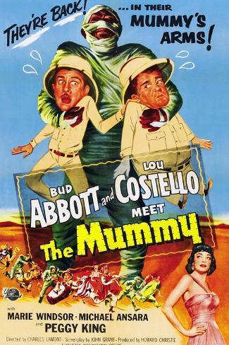 Abbott And Costello Meet the Mummy (aka Abbott & Costello Meet the Mummy), 1955 Art Print