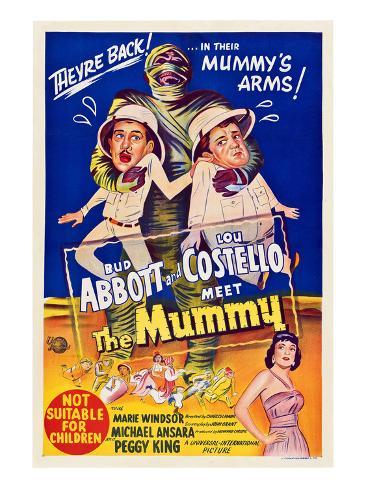 Abbott And Costello Meet the Mummy, Eddie Parker, Bud Abbott, Lou Costello, Marie Windsor, 1955 Fotografia