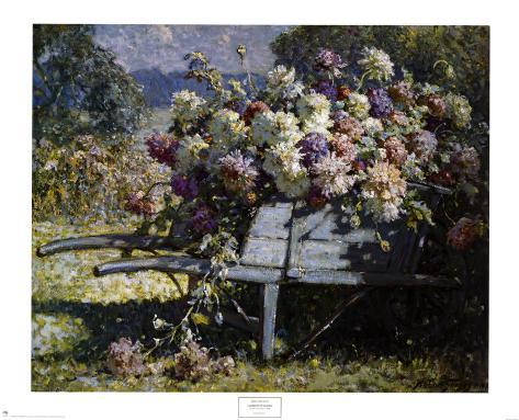 Barrow of Blooms Art Print