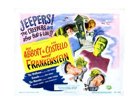 Abbott y Costello contra los fantasmas Lámina giclée