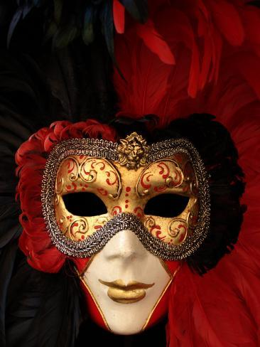 Ornate Mask, Venice, Italy Photographic Print