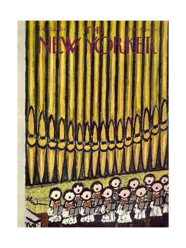 The New Yorker Cover - December 22, 1956 Premium Giclee Print