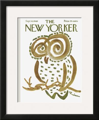 The New Yorker Cover - September 10, 1966 Framed Giclee Print