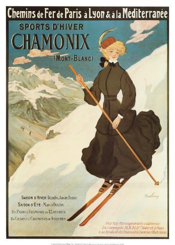 Sports d'Hiver Chamonix Art Print