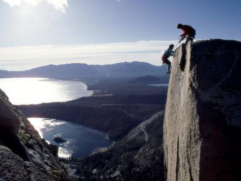 Above Emerald Bay, Lake Tahoe, California, USA Photographic Print