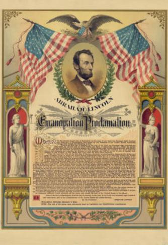 Abraham Lincoln Emancipation Proclamation Historical Document Poster Masterprint