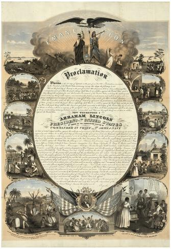 Abraham Lincoln Emancipation Proclamation Historical Poster Poster