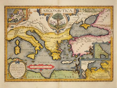 Map of the Voyage of the Argonauts, from the 'Theatrum Orbis Terrarum', 1603 Giclee Print