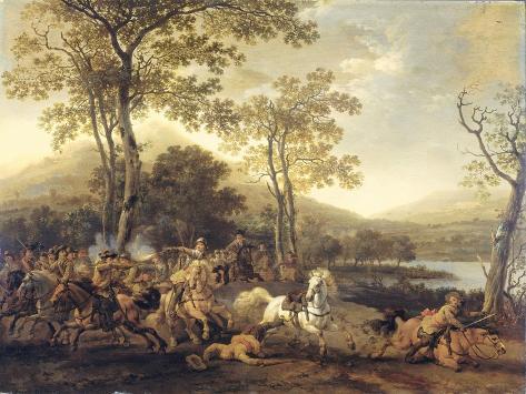 Cavalry Skirmish Art Print