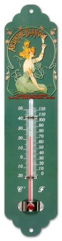 Absinthe Blanqui Thermometer Tin Sign