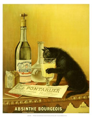 Absinthe Bourgeois, c.1900 Mounted Print