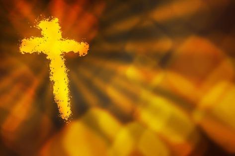 Abstract Cross Lámina giclée