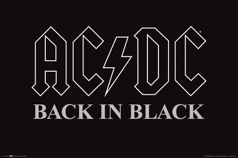 Ac Dc Back In Black Prints Allposters Ca